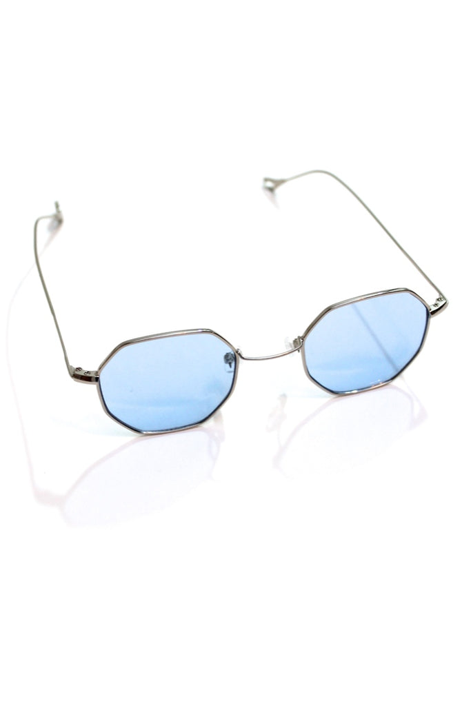 Light Blue Octagon Sunnies