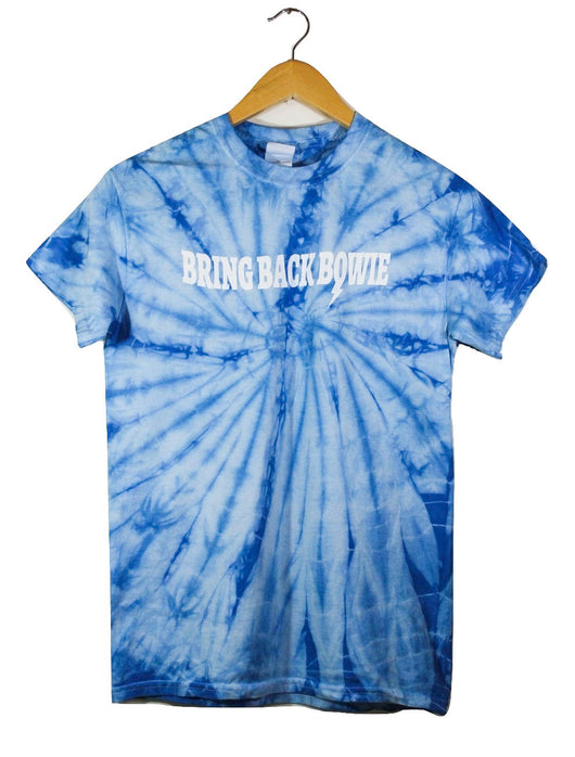 Bring Back Bowie Sky Blue Tie-Dye Graphic Unisex Tee