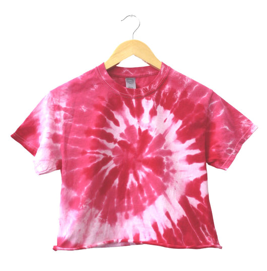 Cherry Blossom Tie-Dye Unisex Cropped Tee