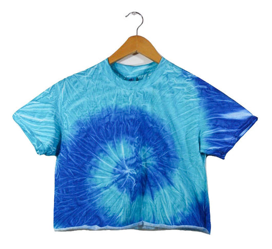 Forget Me Not Blue Tie-Dye Unisex Cropped Tee