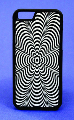 Hypnotic Spiral Flower Phone Case