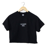 I Recommend Vodka Black Graphic Cropped Unisex Tee