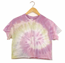 Wildflower Tie-Dye Cropped Unisex Tee