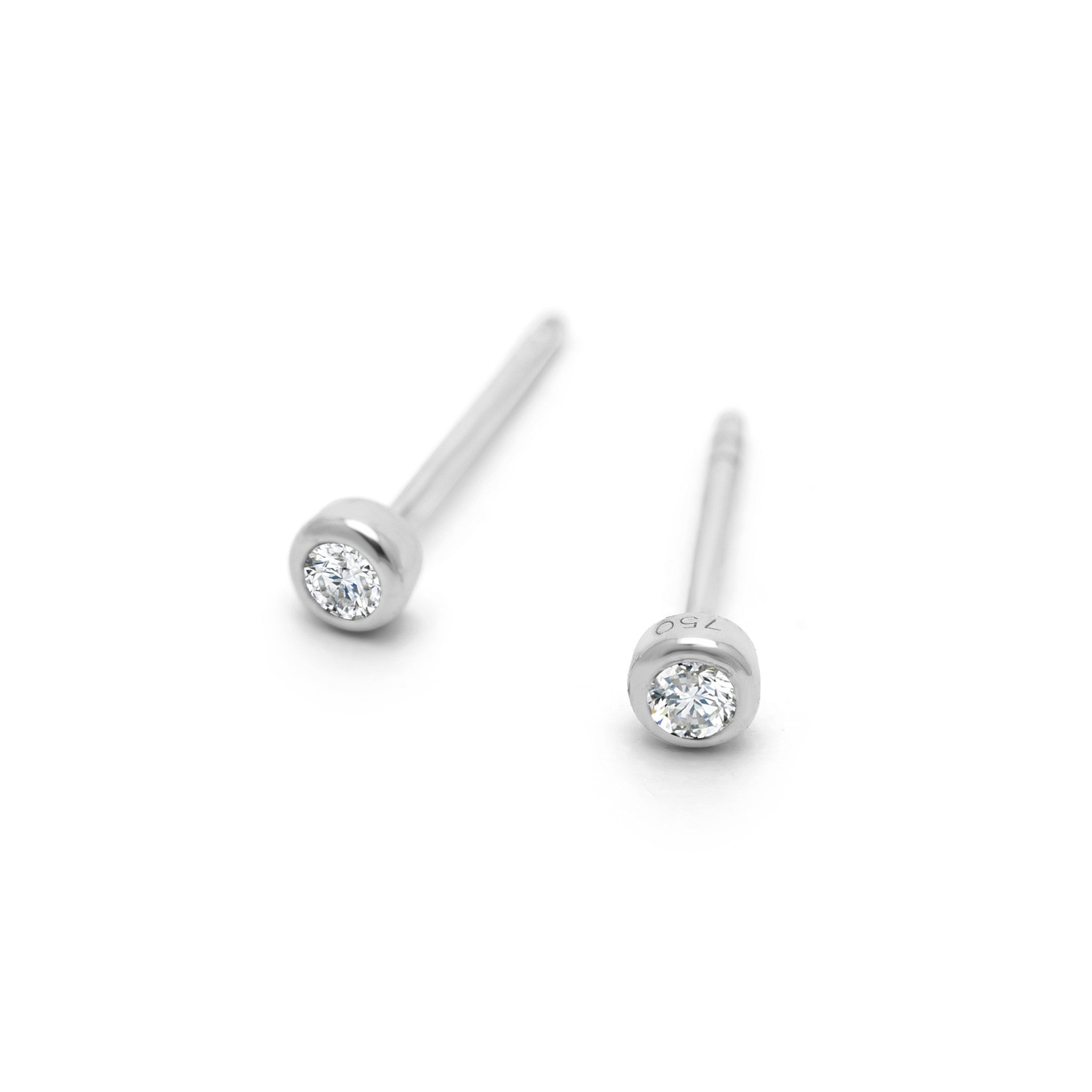 magal half studs earrings circle diamonds solitaire jewelry diamond product