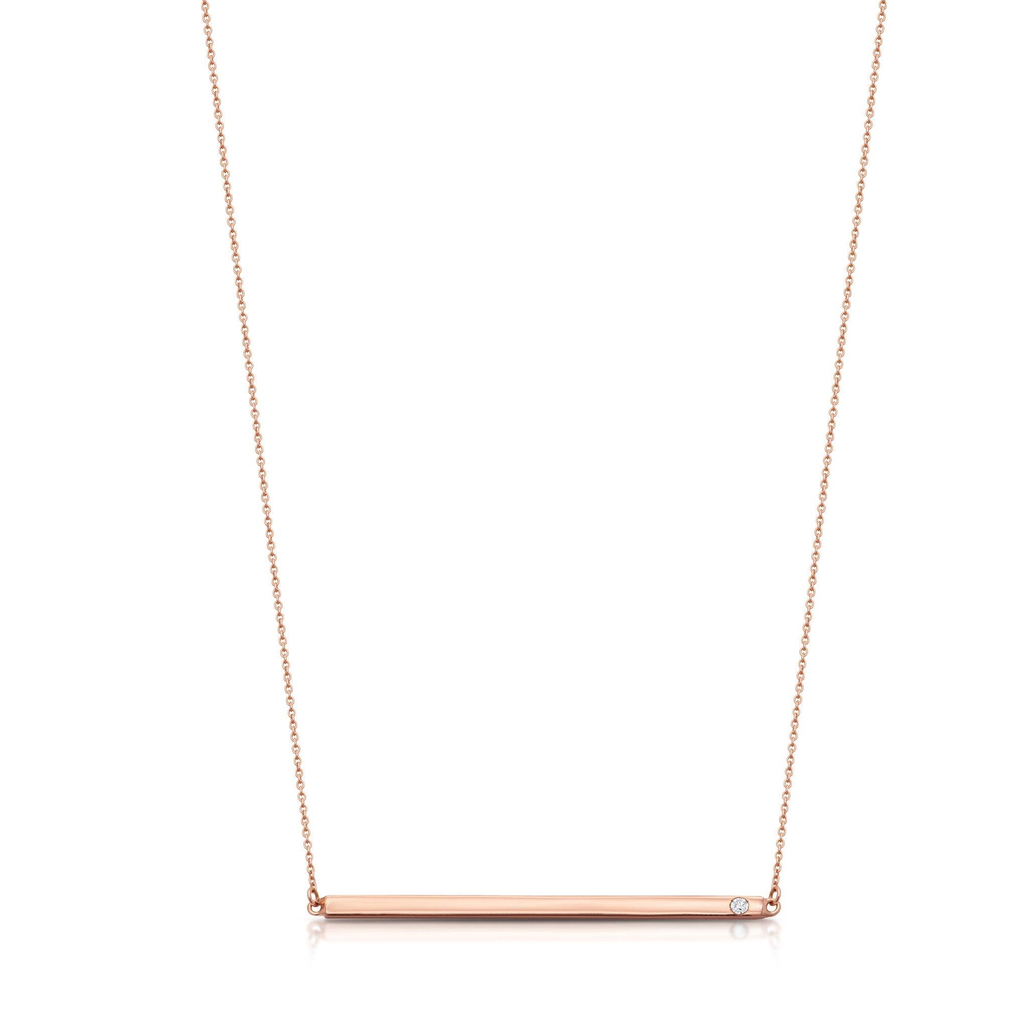 bar yellow gold pendant name in adjustable necklace