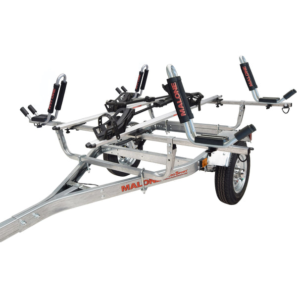 MicroSport™ 2 Kayak/2 Bike Trailer Package (2 Sets J-Racks, 2 Bike Racks, Spare Tire)