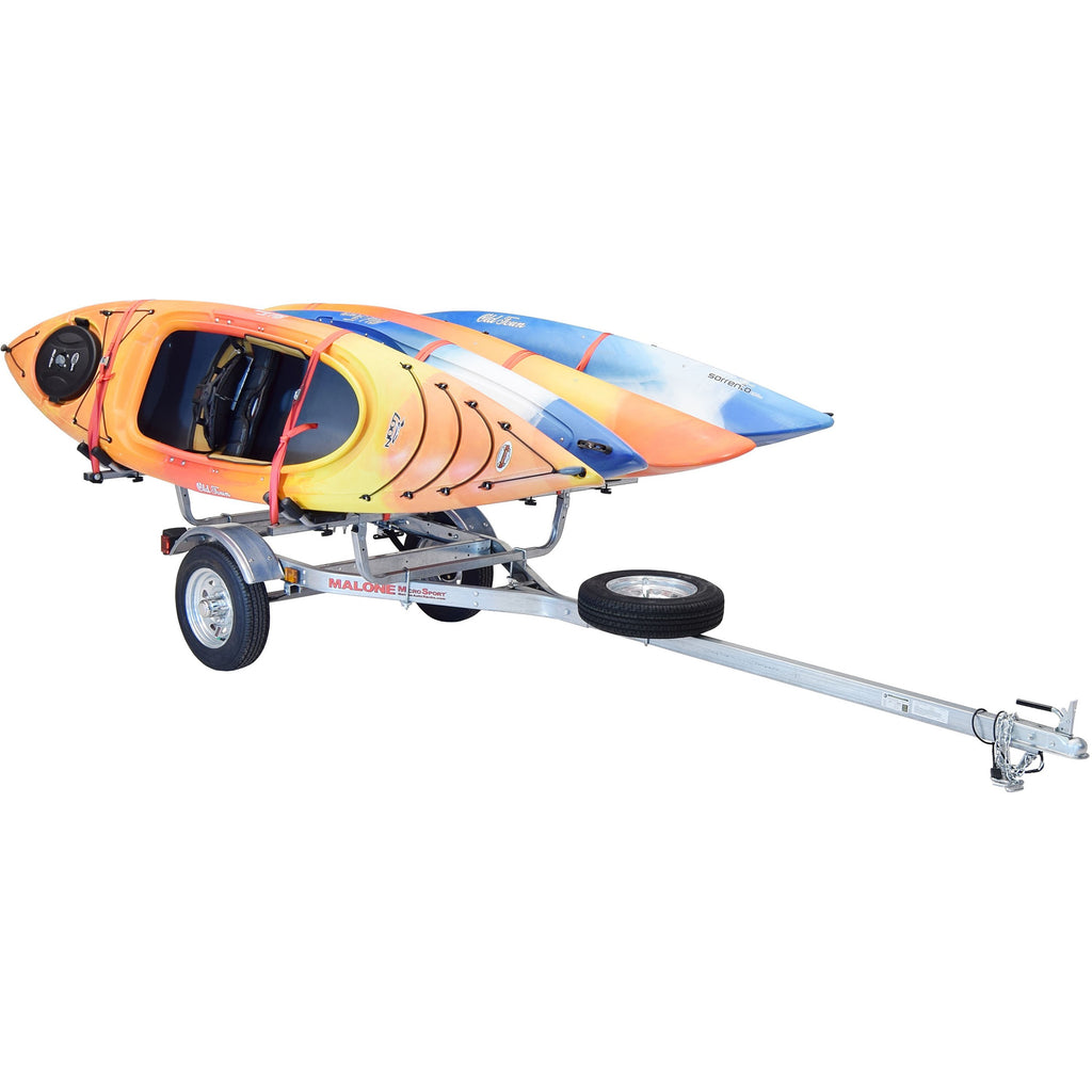MicroSport™ 4 Kayak Trailer Package (4 Sets J-Racks, Spare Tire)