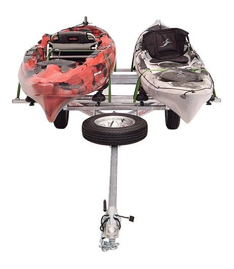 MicroSport™ LowBed™ 2 Kayak Trailer Package (2 Sets Saddle Up Pro™ & Spare Tire)
