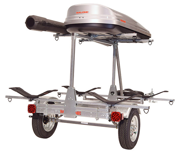 MicroSport™ LowBed™ Trailer w/Tier, Spare, 2 sets MegaWings™, Cargo Box, Rod Tube