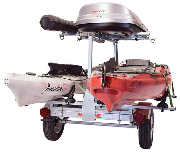 MicroSport™ LowBed™ Trailer w/Tier, Spare, 2 sets SaddleUp™, Cargo Box, Rod Tube