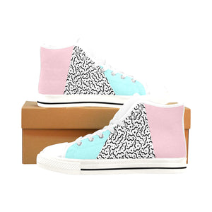 80's Pastel : Men's High-Tops | Vaporwave Fashion | Aesthetic Apparel and Clothing