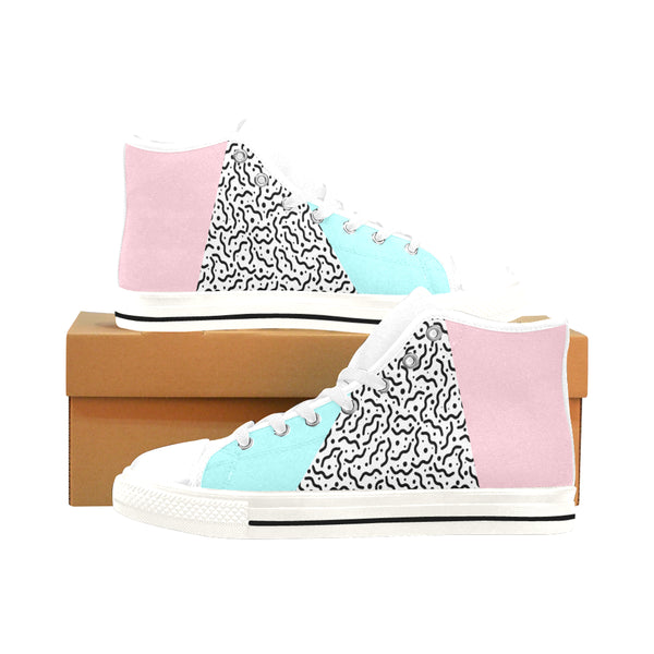 Men's High Top Canvas Shoes (017) 80's Pastel : Men's High-Tops | | Vaporwave Fashion - Aesthetic Clothing & Accessories