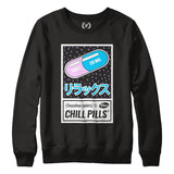 CHILL PILLS : Sweatshirt | Unisex | Vaporwave Sweatshirt | Vaporwave Fashion