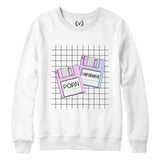 FLOPPIES : Sweatshirt | Unisex | Vaporwave Sweatshirt | Vaporwave Fashion