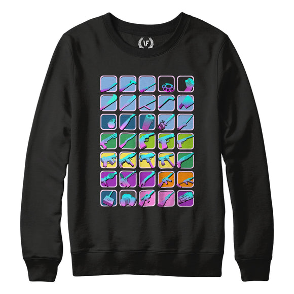 WEAPONS : Sweatshirt | Unisex | Vaporwave Sweatshirt | Vaporwave Fashion