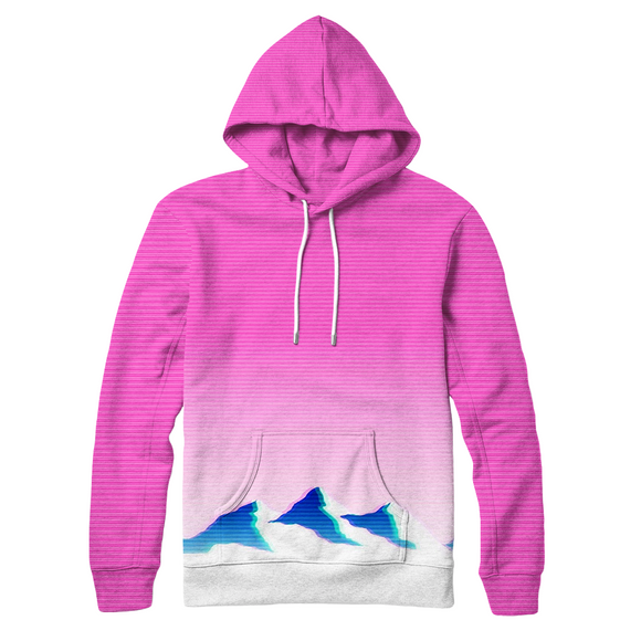 Moutain Gradient : AOP Hoodie | Vaporwave Clothing & Accessories | Vaporwave Fashion