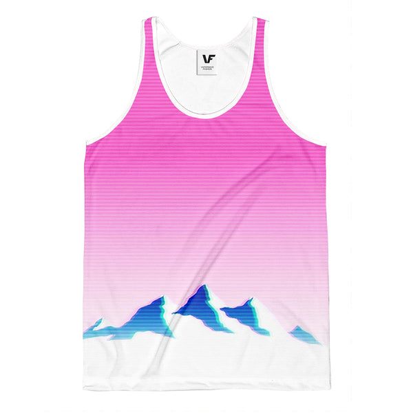Men's All Over Print Tank Top (T57) MOUNTAIN GRADIENT : AOP Tank-Top | | Vaporwave Fashion - Aesthetic Clothing & Accessories