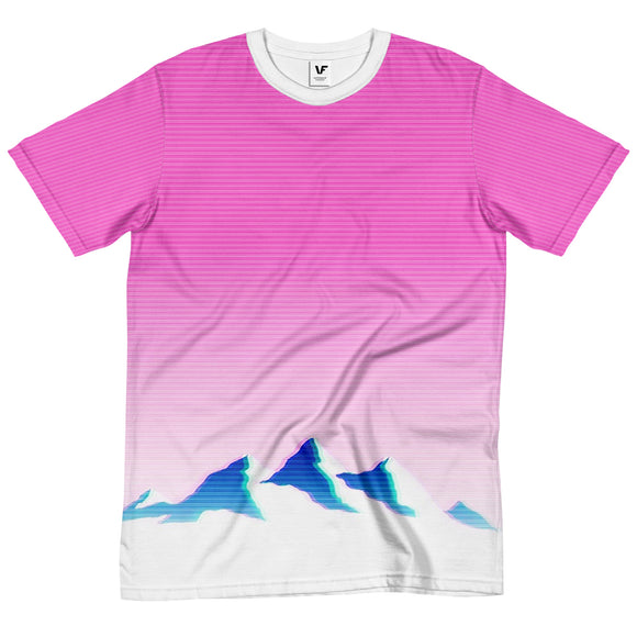 MOUNTAIN GRADIENT : AOP T-Shirt | Vaporwave T Shirt | Vaporwave Fashion