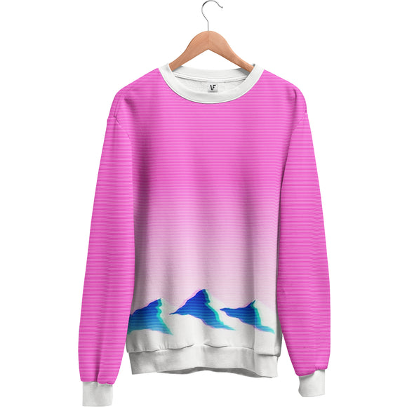 Gradient Horizon : AOP Sweatshirt | All Over Print | Vaporwave Sweatshirt | Vaporwave Fashion