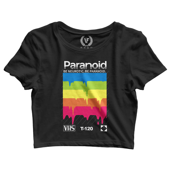 PARANOID : Crop-Top | Women's | Crop-Tops | Vaporwave Fashion