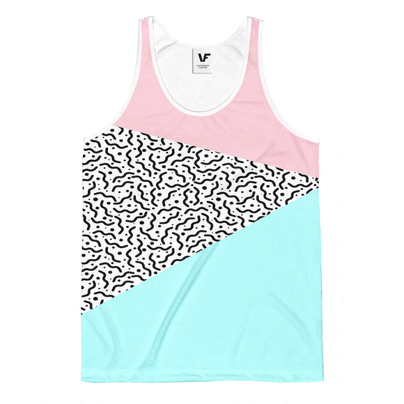 80's PASTEL : AOP Tank-Top | Vaporwave Fashion | Aesthetic Apparel and Clothing