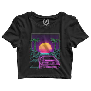 SUNSET : Crop-Top | Women's | Crop-Tops | Vaporwave Fashion