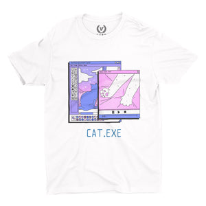 CAT.EXE : T-Shirt | Vaporwave T Shirt | Vaporwave Fashion
