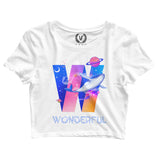 Wonderful : Crop-Top | Women's | Crop-Tops | Vaporwave Fashion