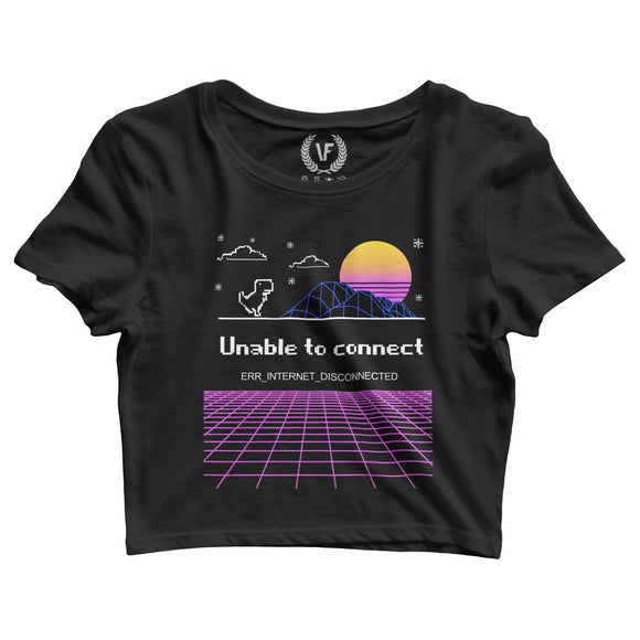 DISCONNECTED : Crop-Top | Women's | Crop-Tops | Vaporwave Fashion