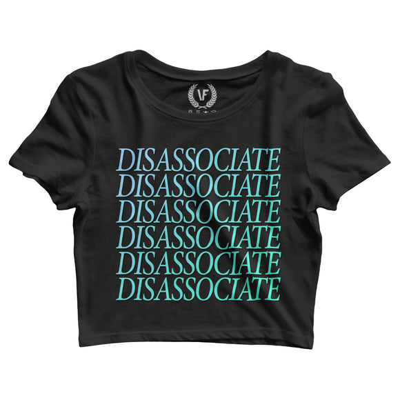 DISASSOCIATE : Crop-Top | Women's | Crop-Tops | Vaporwave Fashion