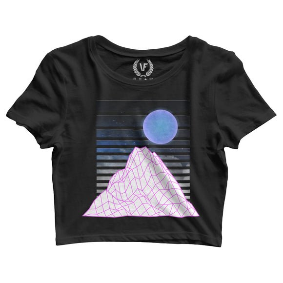 MT Grid : Crop-Top | Women's | Crop-Tops | Vaporwave Fashion