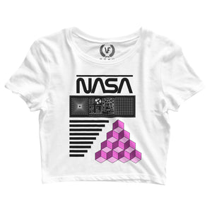 NASA : Crop-Top | Women's | Crop-Tops | Vaporwave Fashion