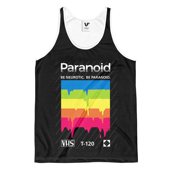 PARANOID : AOP TANK-TOP | Vaporwave Clothing & Accessories | Vaporwave Fashion