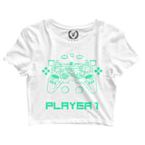 PLAYER 1 : Crop-Top | Women's | Crop-Tops | Vaporwave Fashion