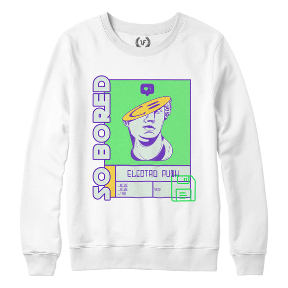 SO BORED : Sweatshirt | Unisex | Vaporwave Sweatshirt | Vaporwave Fashion