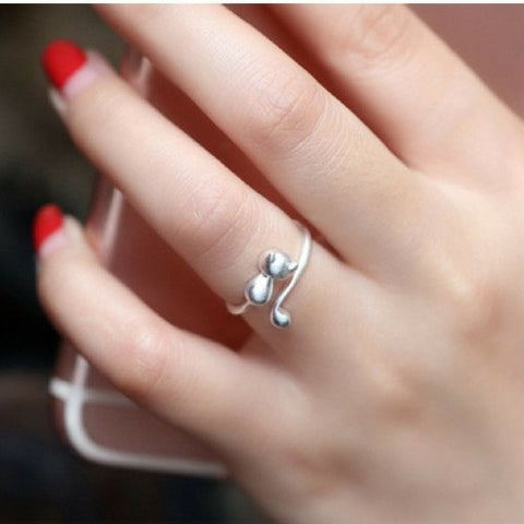 Cute Adjustable Cat Ring