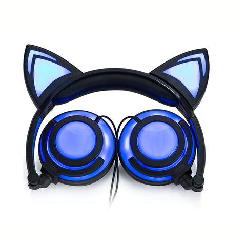 LED Headphone for Kitty Lovers - Rechargeable