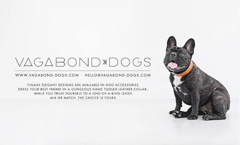 Vagabond Dogs is a fashion design company that handcrafts luxury dog accessories.   We custom create beautiful dog collars, designer dog leashes and other designer accessories for any breed, for the collar of your puppys dreams!   Soon we will be adding cool dog beds, bags and luxury grooming products.