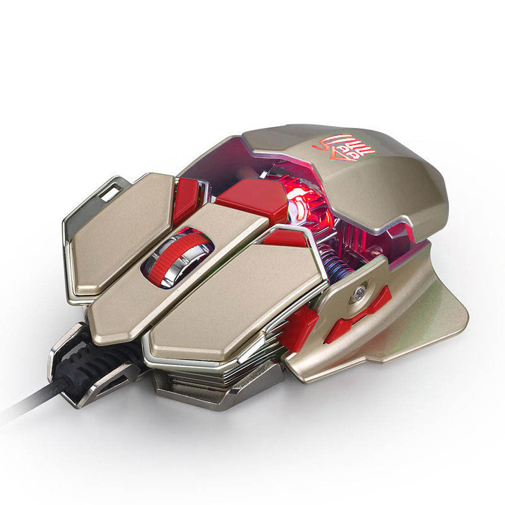 Wired Gold Ergonomic gaming mouse 4000DPI 10D Buttons