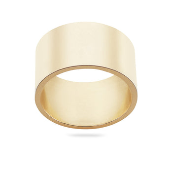 9carat gold plain 10mm band ring