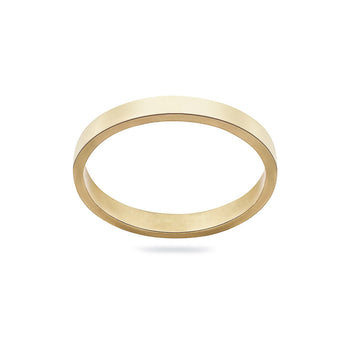 9carat gold plain 2mm band ring