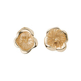 18 carat gold La Flor earrings, flower studs