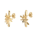 18 carat gold Cluster Studs inspired by the quartz crystal