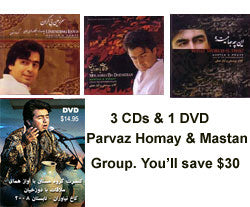 3 CDs & 1 DVD by Homay and Mastan Group