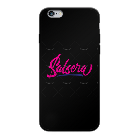 Salsera Back Printed Black Soft Phone Case