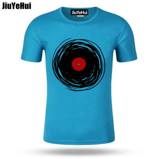 Men's T Shirt Men Spinning With A Vinyl Record Retro Music DJ T-Shirt Adult Hip Hop Tee TShirt Plus Size - World Salsa Championships