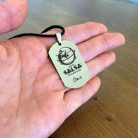 WSC Personalized Dogtag Necklace On-2 - World Salsa Championships