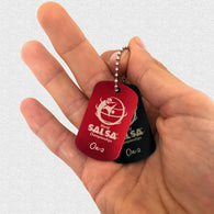 WSC Personalized Dogtag On-2 - World Salsa Championships