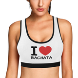 I Love Bachata Sports Bra Women's All Over Print Sports Bra (Model T52) - World Salsa Championships
