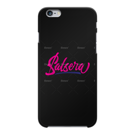 Salsera Back Printed Black Hard Phone Case